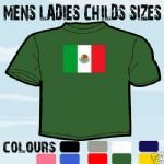 MEXICO MEXICAN FLAG EMBLEM T-SHIRT ALL SIZES & COLOURS